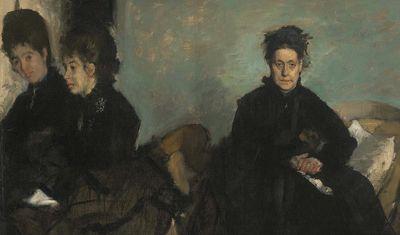 Duquesa di Montejasi con sus hijas, Elena y Camilla, de Degas, (1876, c.)