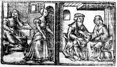 Ilustración del acto XVI de la edición de Zaragoza (1545)
