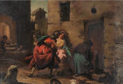 Majos y celestina, de Lucas Villaamil (1800 c.)