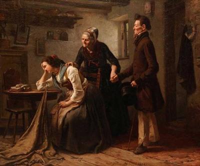 Pretendiente tímido, de Hübner (1853)