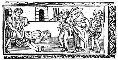 Ilustración del acto XIII de la edición de Valencia (1529)