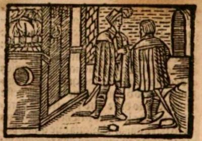 Ilustración del acto VIII de la edición de Estella (1557)