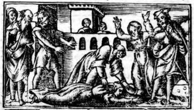 Ilustración del acto XXI de la edición de Zaragoza (1545)