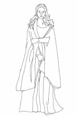 Boceto del vestuario de Melibea (2016)
