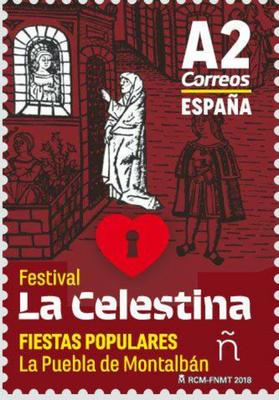 Sello de correos Festival La Celestina, FNMT (2018)