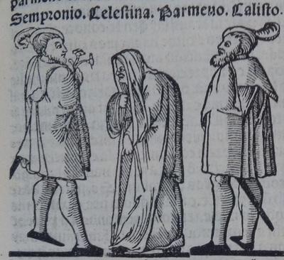 Ilustración del acto 5 de la edición de Lisboa (1540)