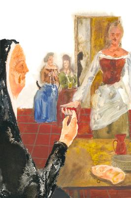 Melibea ofrece un cordón a Celestina, de Acedo (2008 c.)