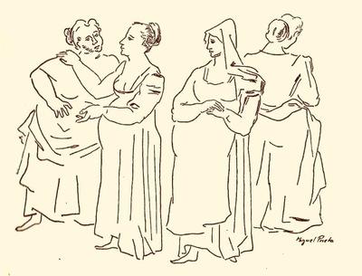 Ilustración tercera del acto V de la edición de México (1947)
