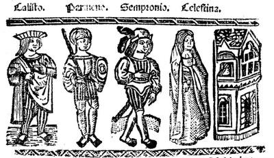 Ilustración del acto V de la edición de Valencia (1529)