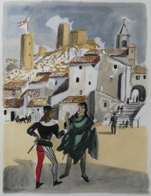 Ilustración del acto II (?) de la edición de París, 1976