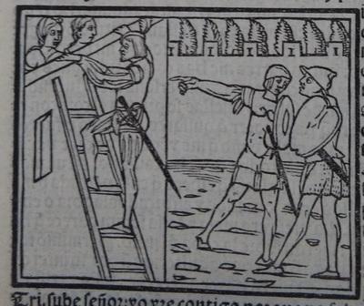 Ilustración del acto 14 de la edición de Lisboa (1540