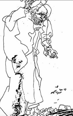 Ilustración de Pleberio de la edición de Budapest (1979)