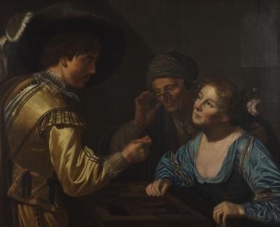 Los jugadores de dedos o los jugadores de backgammon, de Van Bijlert (1620 (c.))