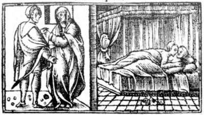 Ilustración del acto VII de la edición de Zaragoza (1545)