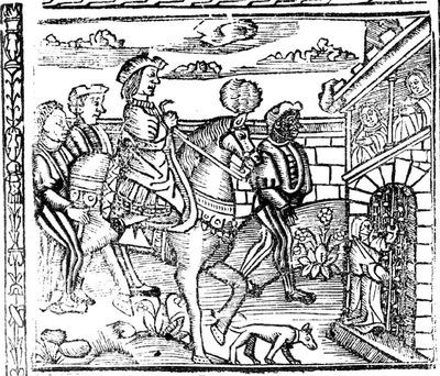 Ilustración primera de la portada de la edición de Valencia (1529)