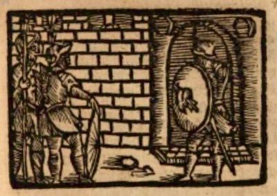Ilustración del acto XIX de la edición de Estella (1557)
