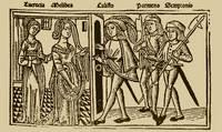 Grabado del acto XII de la edición de Burgos (1499)