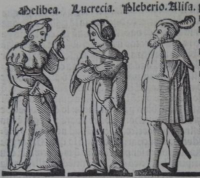 Ilustración del acto 16 de la edición de Lisboa (1540)
