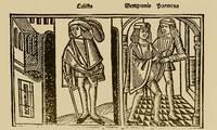 Grabado del acto VIII de la edición de Burgos (1499)