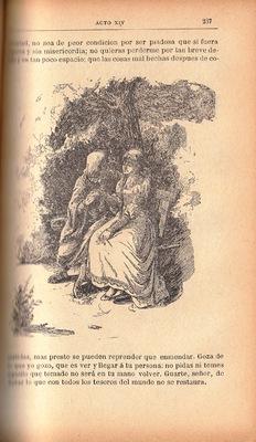 Ilustración primera del acto XIV de la edición de Barcelona (1883)