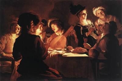 El banquete, de Honthorst (1619)