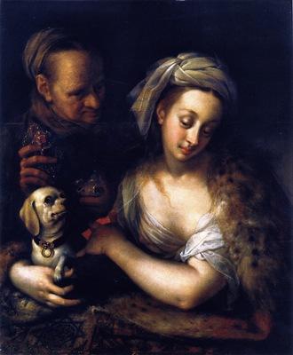 Cortesana con su alcahueta, de Von Aachen (siglo XVII)