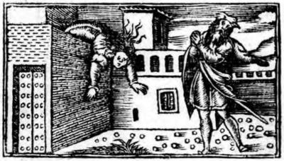 Ilustración segunda del acto XX de la edición de Zaragoza (1545)