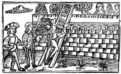 Ilustración primera del acto XX de la edición de Valencia (1529)