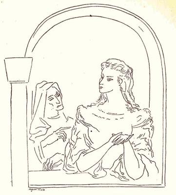 Ilustración del acto IV de la edición de México (1947)