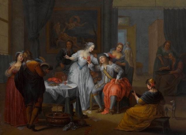 El hijo pródigo festejando, de Janneck (1731 c.)