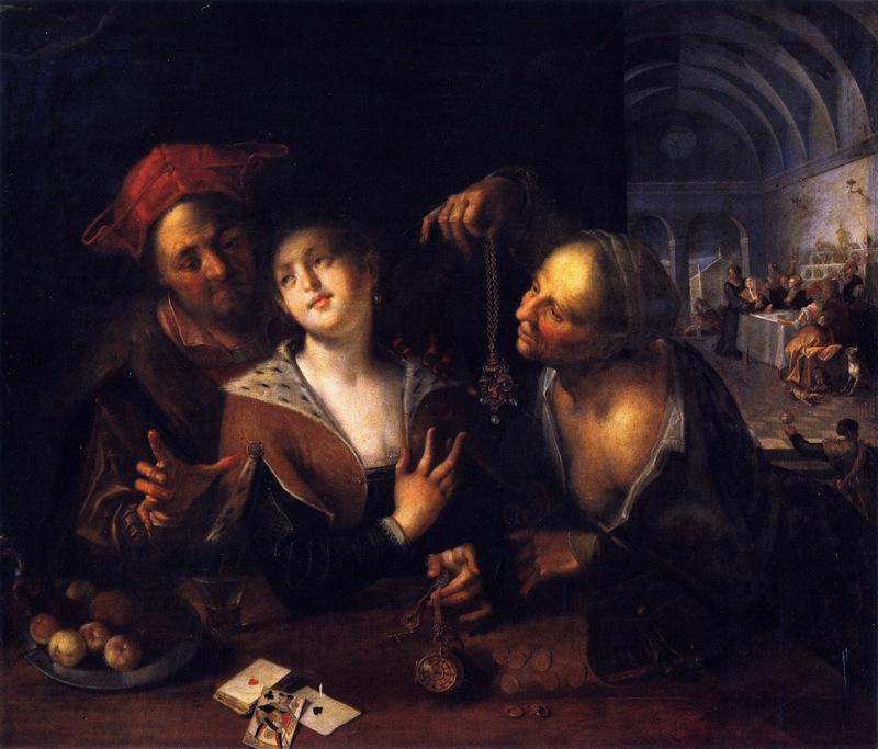 Alcahueta con una pareja, de Von Aachen (c. 1605-1610)