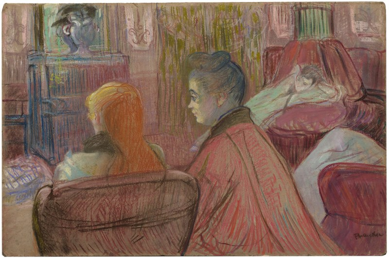 En el salón, de Toulouse-Lautrec (1893)