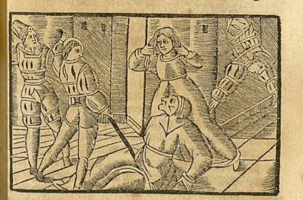 Segunda ilustración del acto XII de la edición de Zaragoza, 1545