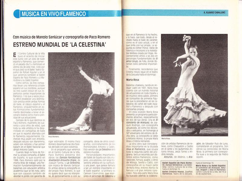 Representación de Ballet España, Madrid, 1990.