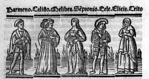 Grabado del acto I de la edición de Sevilla (1523)