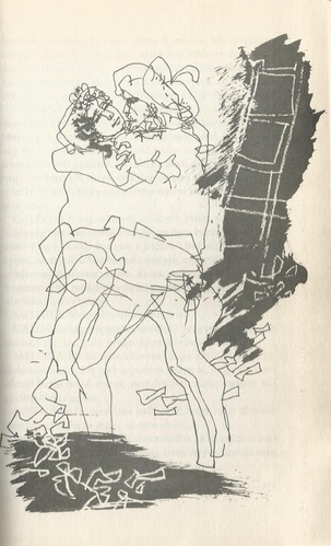 Ilustración de Calisto y Melibea de la edición de Budapest (1979)