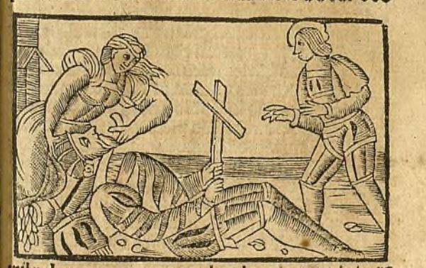 Ilustración del acto XIII de la edición de Zaragoza, 1545