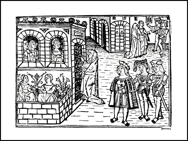 Grabado de la portada de la edición de Valencia (1514)
