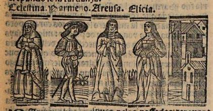 Grabado del acto VII de la edición de Venecia (1534)