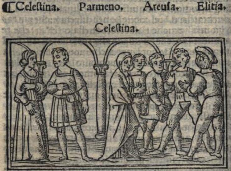 Ilustración del acto VII de la edición de Venecia (1519)