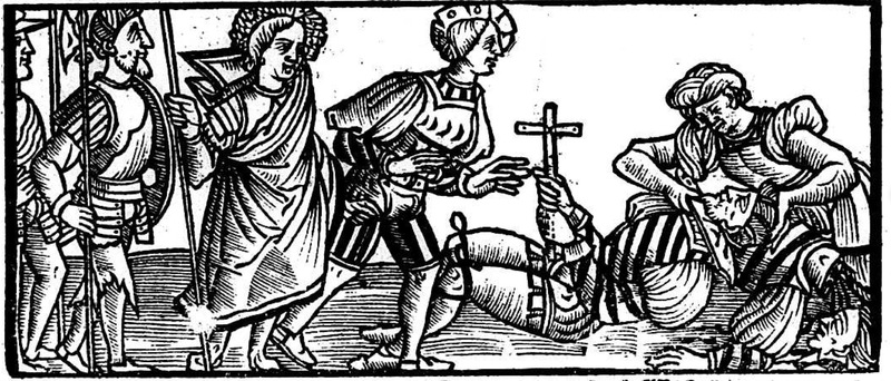 Ilustración segunda del acto XIII de la edición de Toledo (1526)