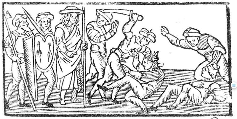 Ilustración del acto XIII de la edición de Roma, 1515