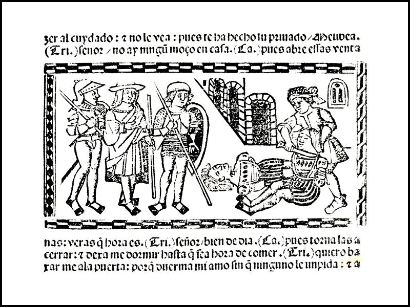 Grabado del acto XIII de la edición de Valencia (1514)