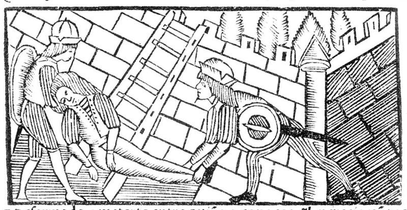 Ilustración segunda del acto XIX de la edición Roma, 1515