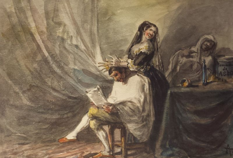 Pomada de asta, de Alenza (1840, c.)