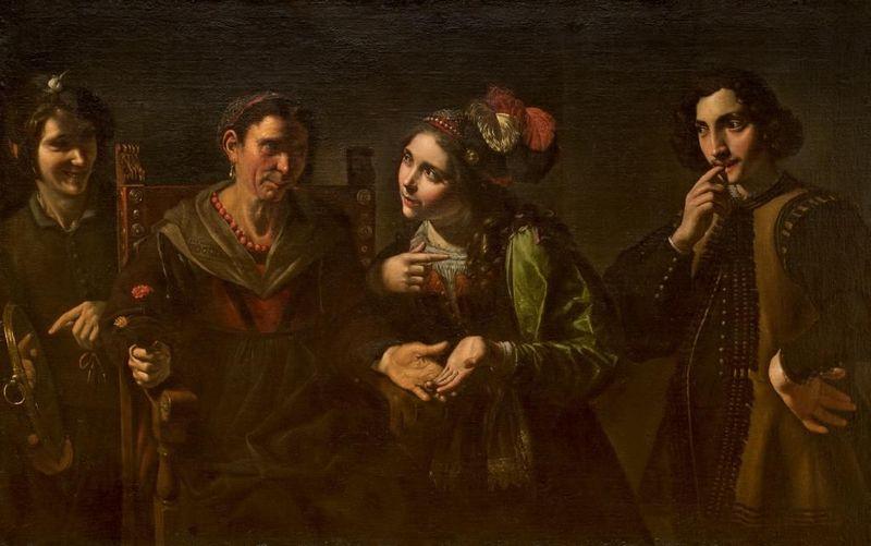 La adivina, de Paolini (1681)
