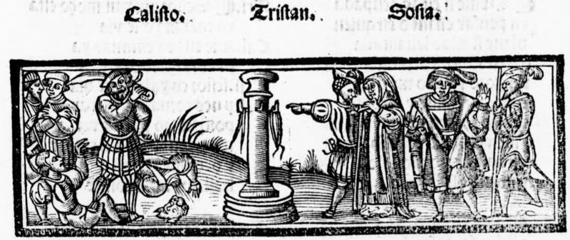 Ilustración del acto XIII de la edición de Salamanca (1540)