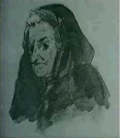 Cabeza de anciana, de Alenza y Nieto (Fecha desconocida)