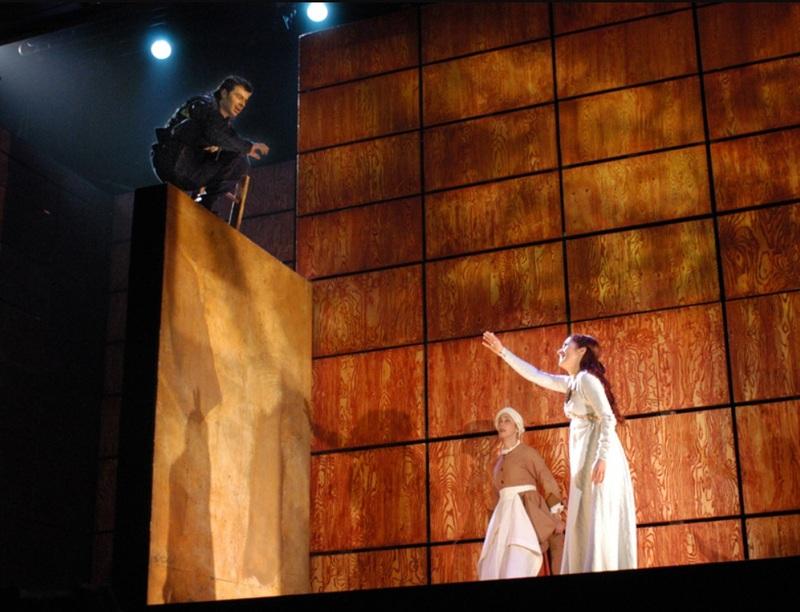 Representación La Celestina, en Teatro Español, Madrid, de Lepage (2004)