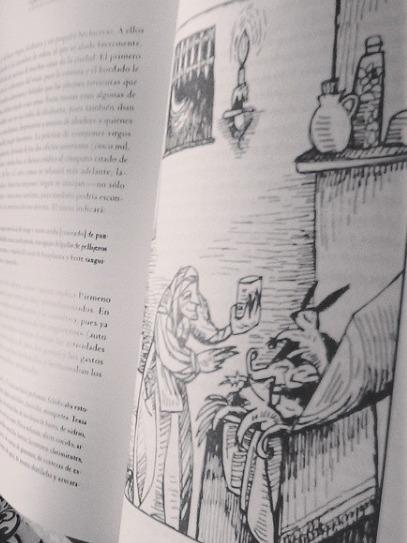Ilustración de la botica de Celestina, de Mérida Jiménez (2004)